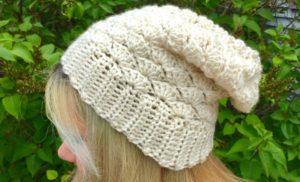 Seashell Slouchy Hat Crochet Pattern