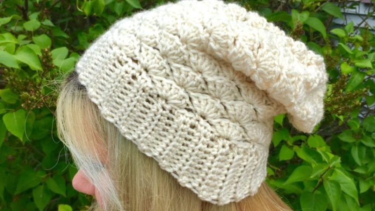 Seashell Slouchy Hat Crochet Pattern