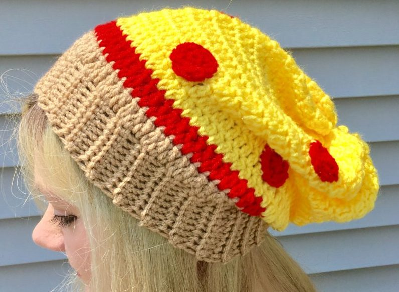 a64dcdba654 Pizza Slouchy Hat Crochet Pattern - Crafty Kitty Crochet