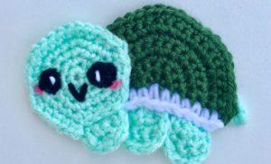 Kawaii Turtle Applique Crochet Pattern
