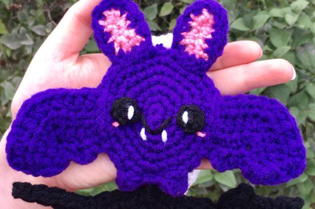 Halloween Scarf CAL (Crochet-Along) Part 3 – Bat!
