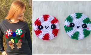 Make this Holiday Season Sweet: Kawaii Peppermint Applique Crochet Pattern