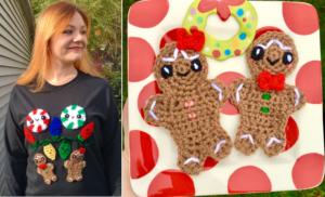 DIY Ugly Christmas Sweater – Gingerbread Boy & Girl Applique Crochet Pattern!