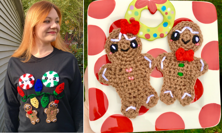 DIY Ugly Christmas Sweater – Gingerbread Boy & Girl Applique Crochet Pattern!