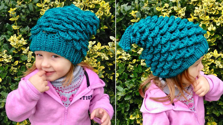Mermaid Slouchy Hat Crochet Pattern – Kids Edition!