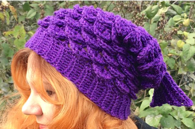 Mermaid Slouchy Hat Crochet Pattern