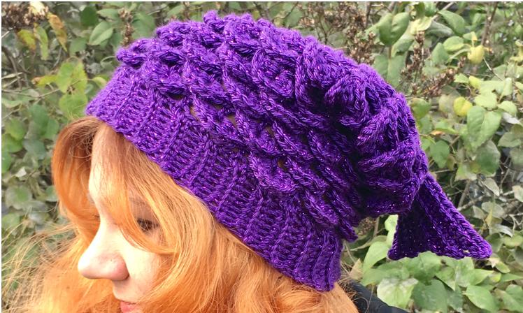 Mermaid Slouchy Hat Crochet Pattern