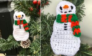 Snowman Applique / Ornament Crochet Pattern