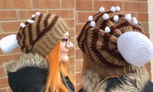 Hot Cocoa Slouchy Hat Crochet Pattern