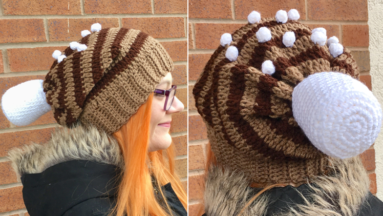 Hot Cocoa Slouchy Hat Crochet Pattern