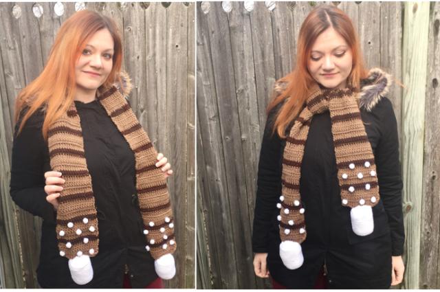 Hot Cocoa Scarf Crochet Pattern