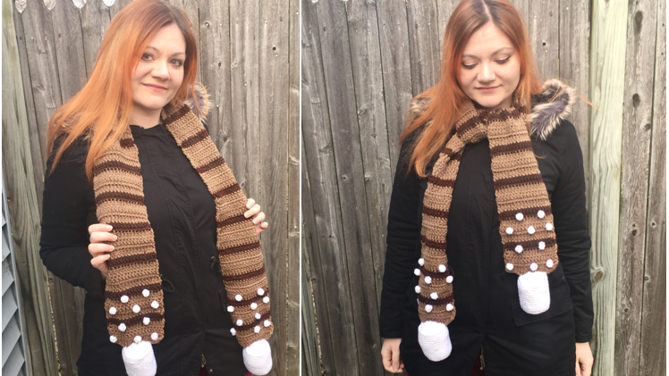 Hot Cocoa Scarf Crochet Pattern