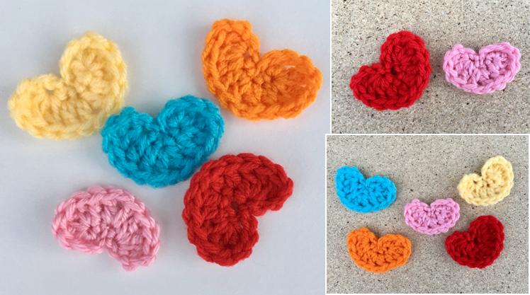 Heart Applique Crochet Pattern