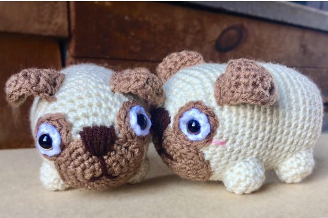 Love Pugs: An Adorably Romantic Crochet Pattern
