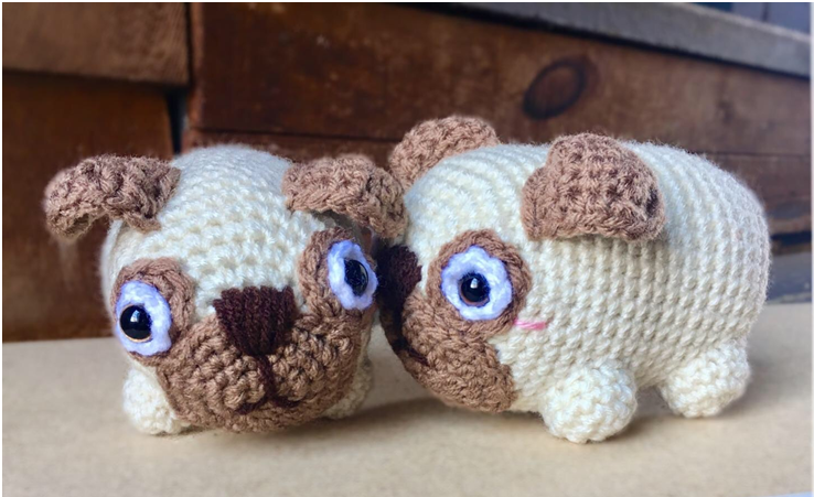 Love Pugs: An Adorably Romantic Crochet Pattern