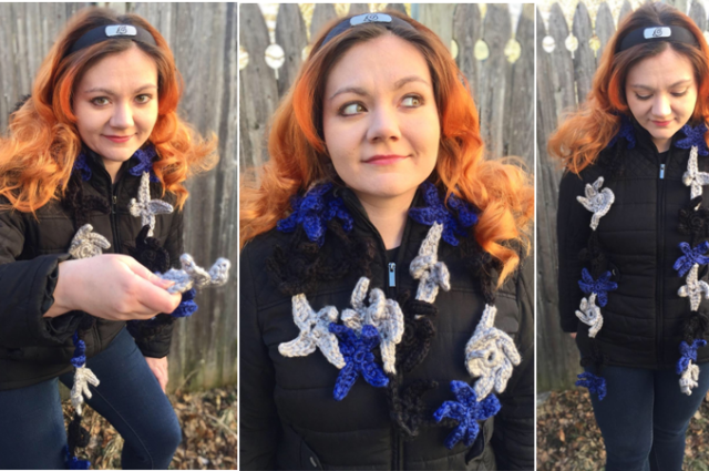 Ninja Throwing Star Scarf Crochet Pattern