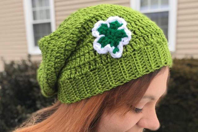 Shamrock Slouchy Hat Crochet Pattern