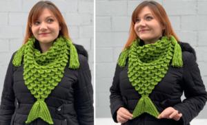 Mermaid Triangle Scarf Crochet Pattern
