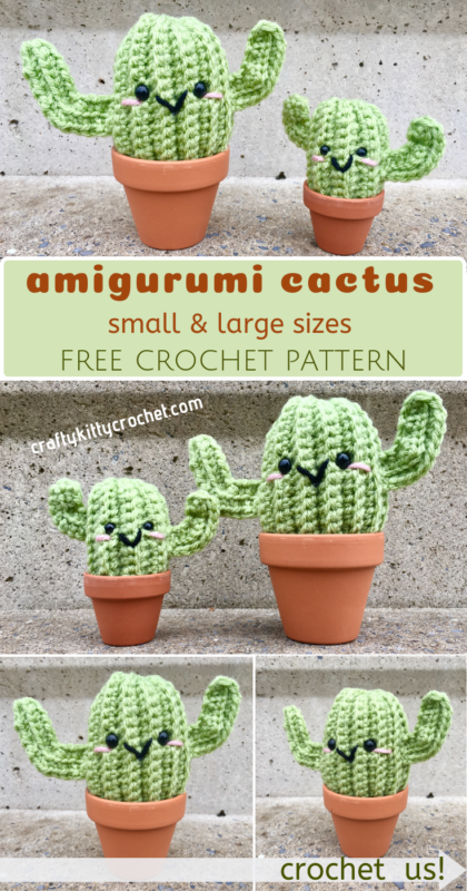 Big and Little Cactus Crochet Pattern - Crafty Kitty Crochet