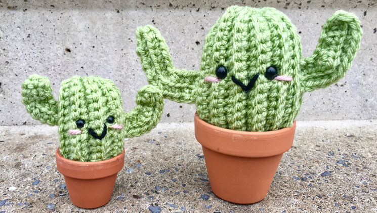 Big and Little Cactus Crochet Pattern