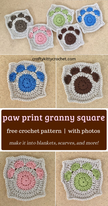 Free Crochet Pattern for a Cat Applique | 800x420