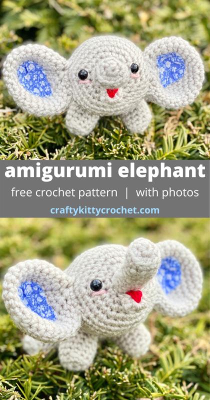 Crochet Elephant Pattern - thefriendlyredfox.com | 800x420